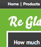 Web design and development for Re-Glaze Windows